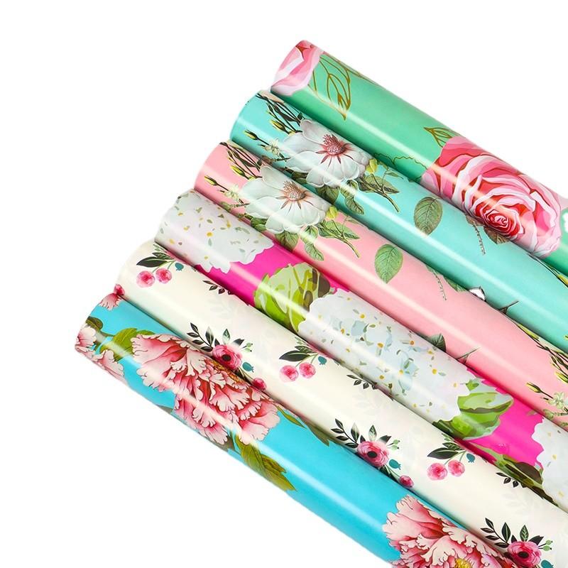 Elegant Paper Wrap Flower Design Waterproof Wrapping Paper Factory Wholesale