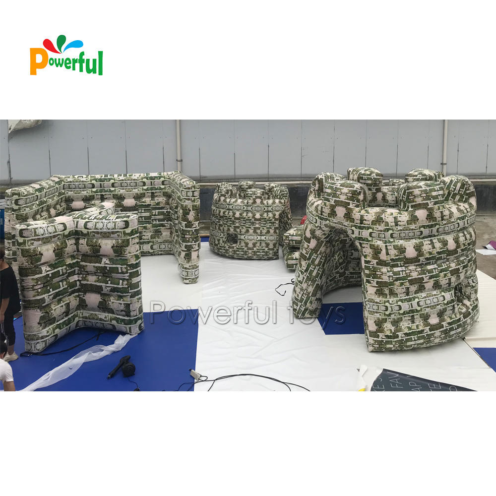 Newest Tactical Inflatable broken wall Paintball Bunker for experience battle filed