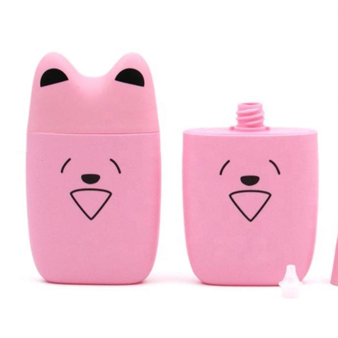 cartoon cute animal type plastic lotion bottle with pump spray for shampoo or cleaning and washing