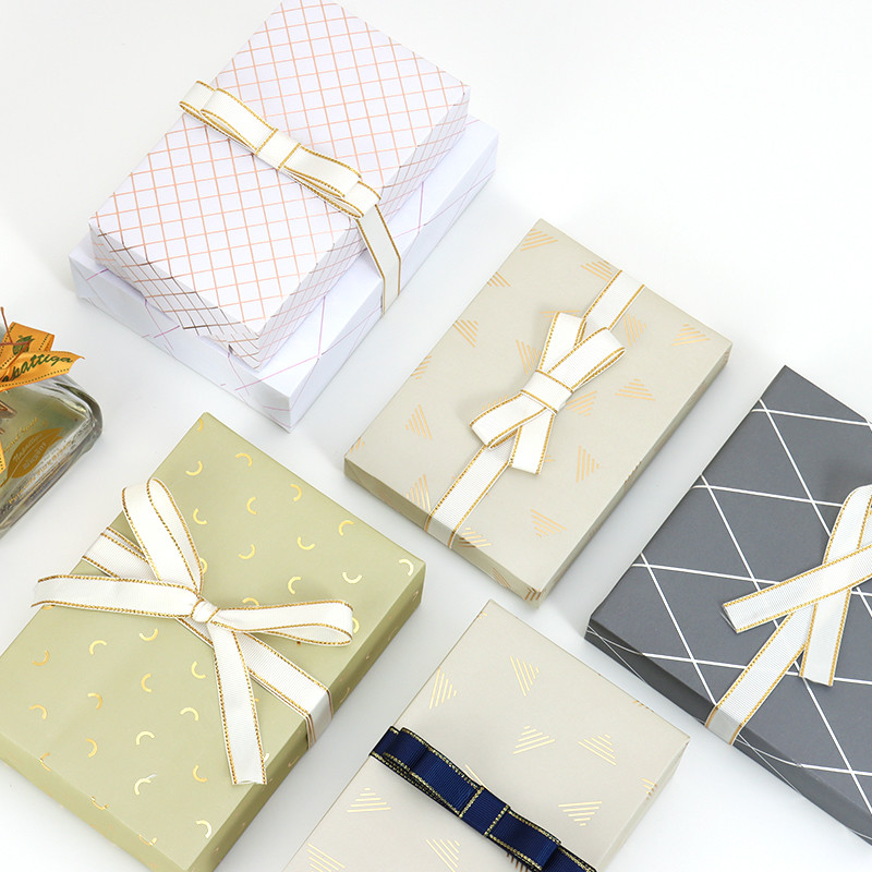 Custom Classical Business Style Gift Wrapping Paper Sheetsl with Printing and Hot stamping