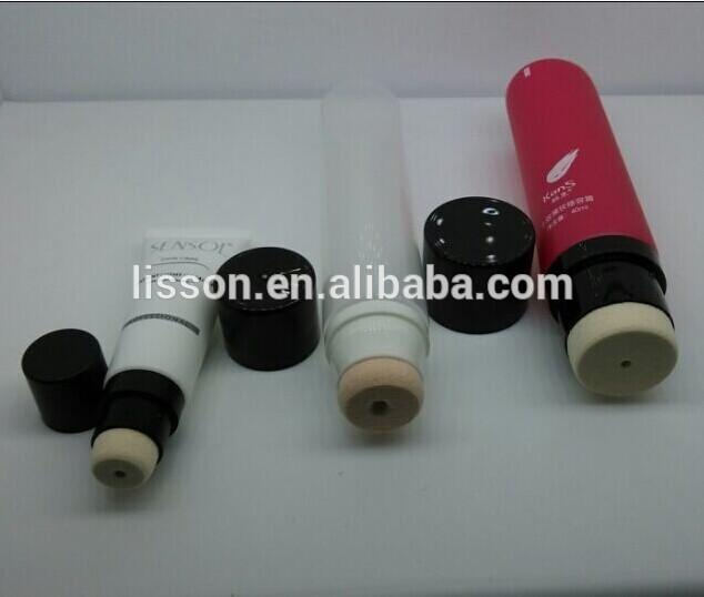50ml cosmetic packaging tubes with sponge applicator