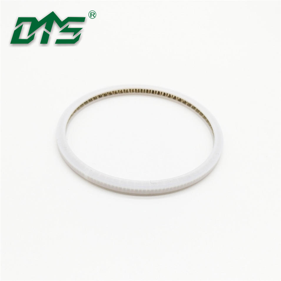 Internal face spring energized seal with PTFE material