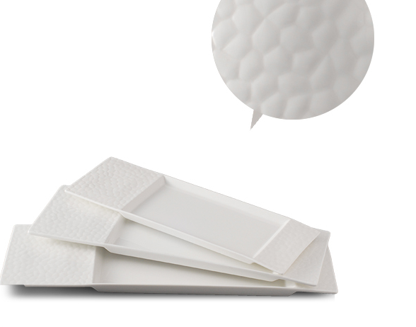 New Design White Porcelain korean dinnerware set / square plate and dish for hotel