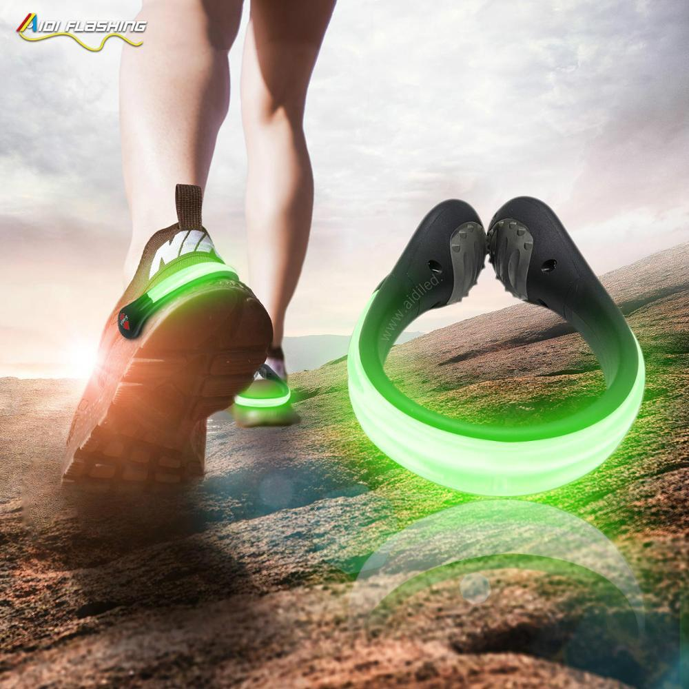 LED light-up safety printing shoe lip for cycling and walking