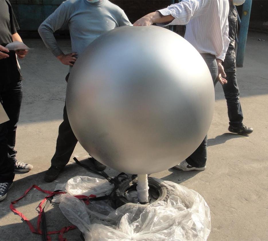 sandblast stainless steel ball water feature