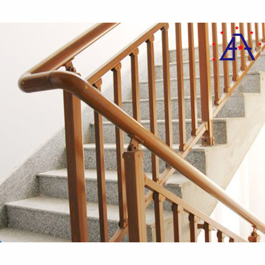 Aluminum gold color stair handrail Outdoor Metal Handrail for Steps