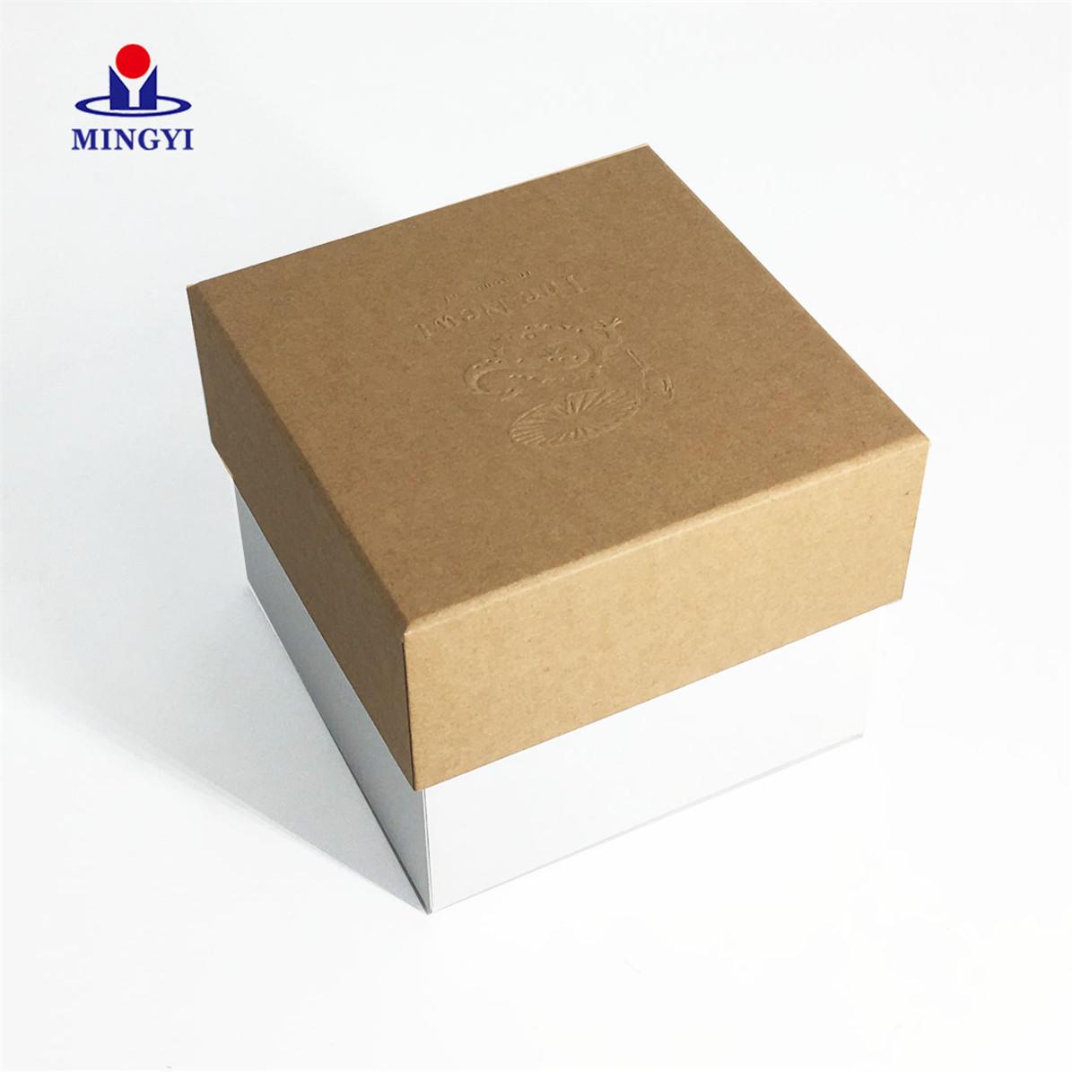 Eco friendly Kraft bath bomb box packaging luxury hand make lid and base paper bath bomb packaging