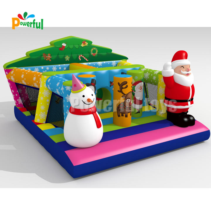 Hot sale inflatable christmas bounce house for kids