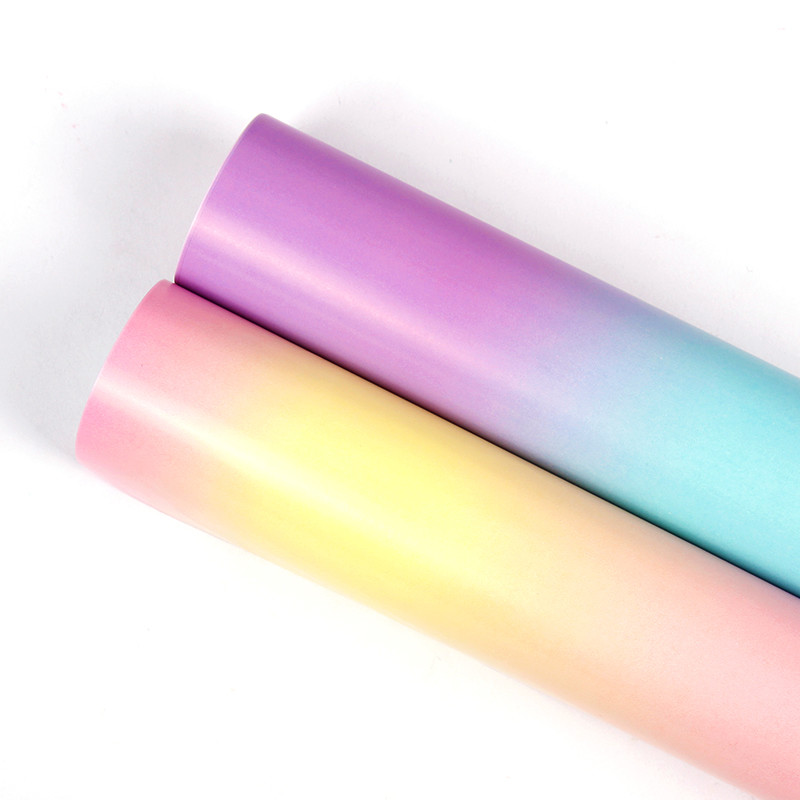 CMYK Printing Gift Wrapping Paper Sheet Fashion Rainbow Printing