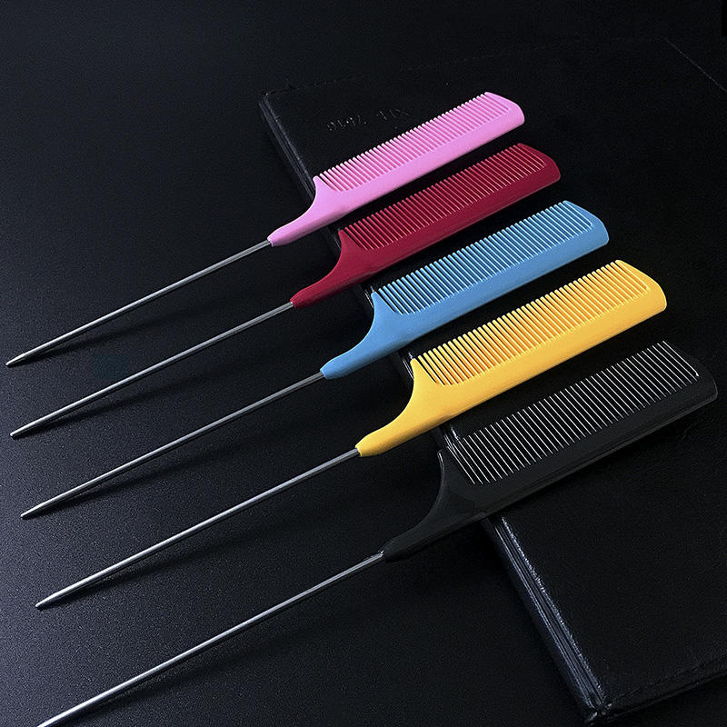 Antistatic Hair Parting Comb Plastic Heat Resistant Tail Comb Barber Combs