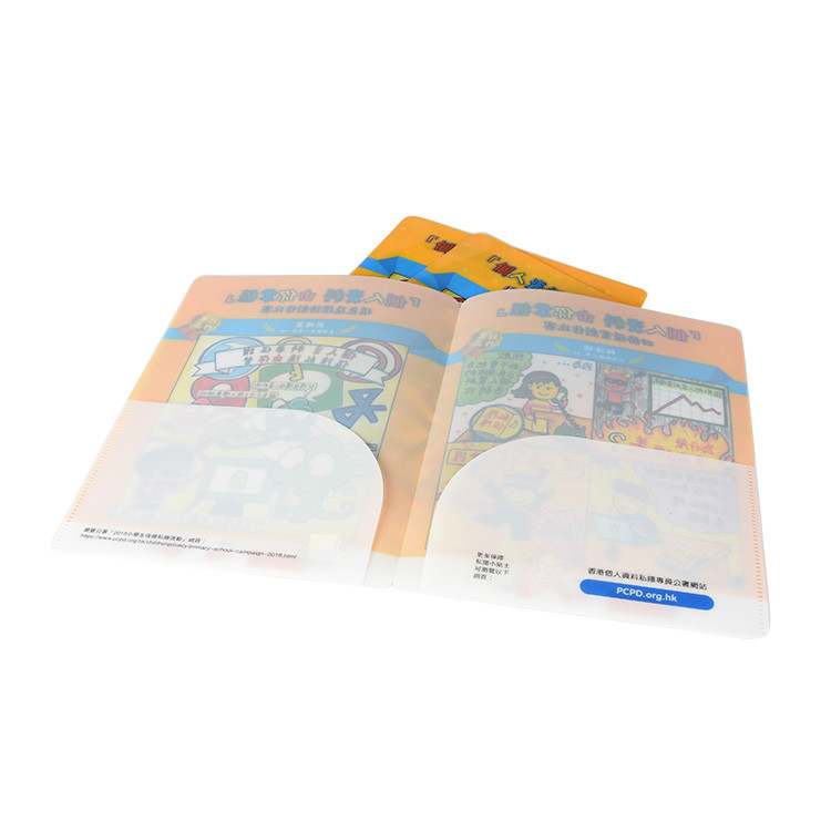 Hot Sell Hardcover Pocket Expanding Document Separators Custom A4 Plastic Clip File Folder