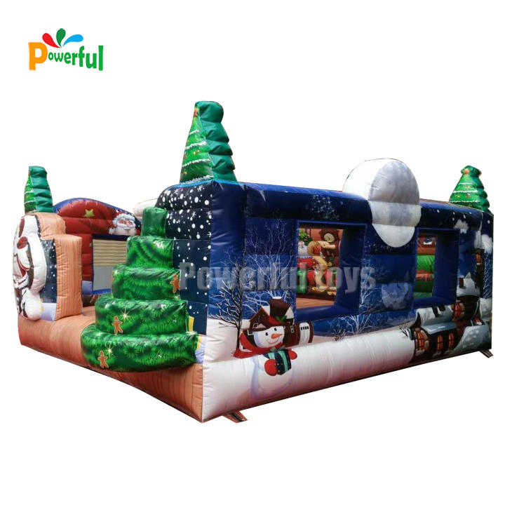 New design bouncy castle christmas inflatable christmas bouncer