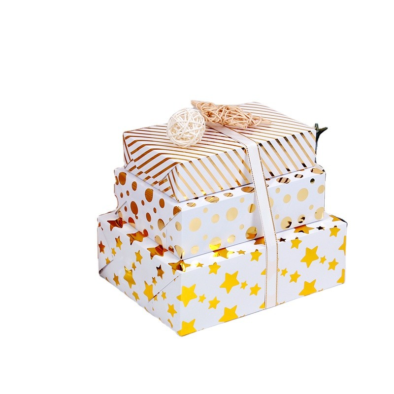 Gold Hot Stamping White BackgroundGift Wrapping Paper