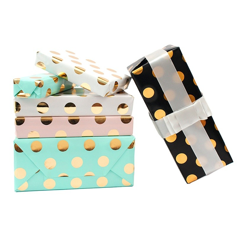 New Design Hot stamping Sale polka dot Gift Wrapping Paper
