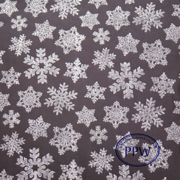 Newest Fancy Christmas Gift Snow Glitter Wrapping Paper Sheet