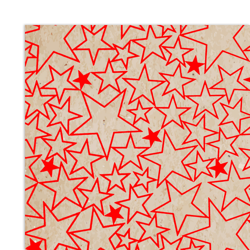 Kraft Paper with Hot Stamping Xmas Design Gift Wrapping Paper