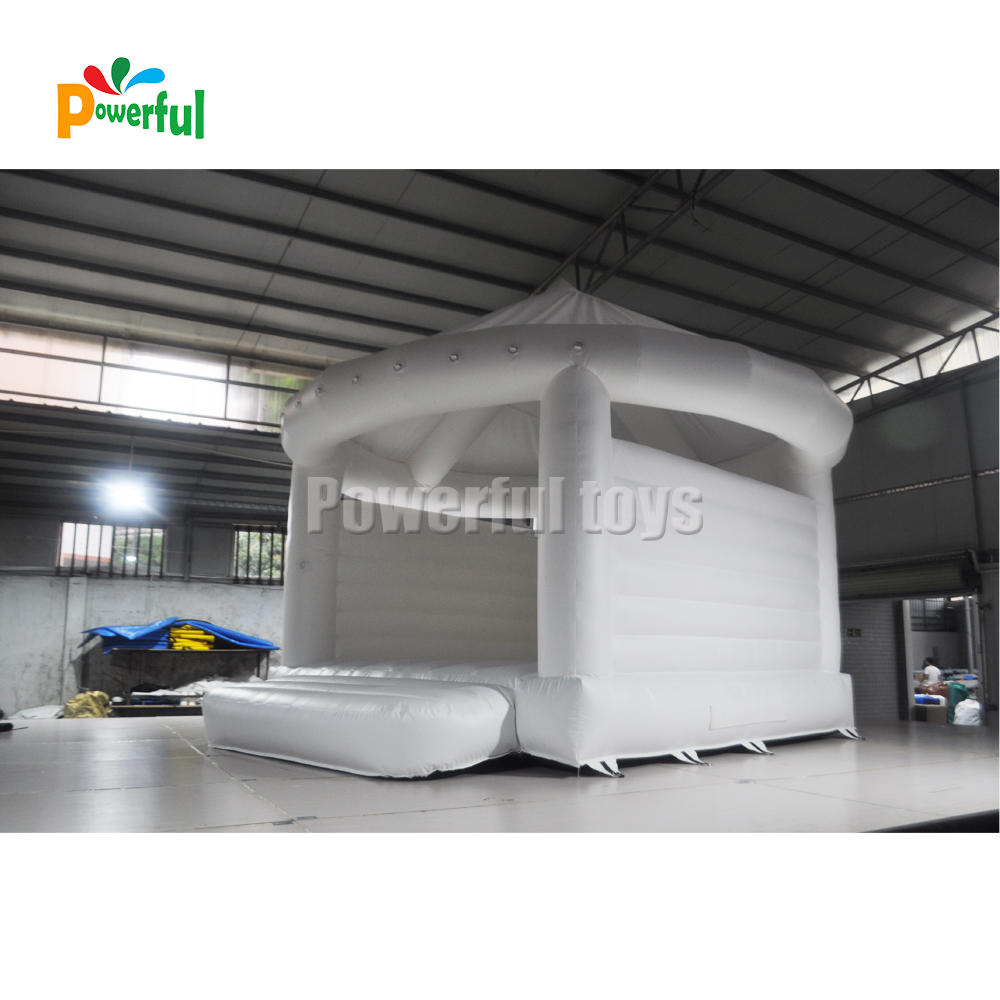 Inflatable Wedding Bouncy Castle White Bounce House