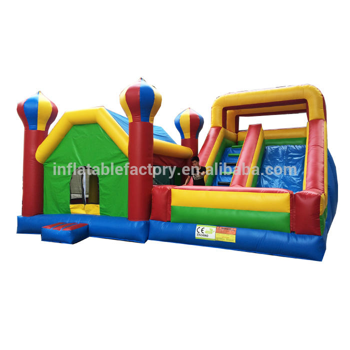 Popular themes combo jumping castle/inflatable castle and slide combo