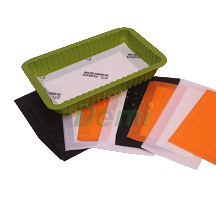 Food safety grade sanitation blood water absorbent pad for meat and fish
