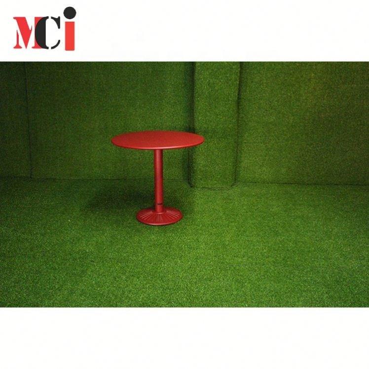 Modern Powdercoating Restaurant aluminum Table, round Cafe aluminum Table