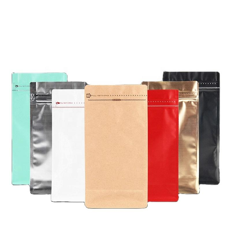 Custom Design Plastic Matte Aluminum Foil Coffee Package Bags for Roasted Coffee Beans