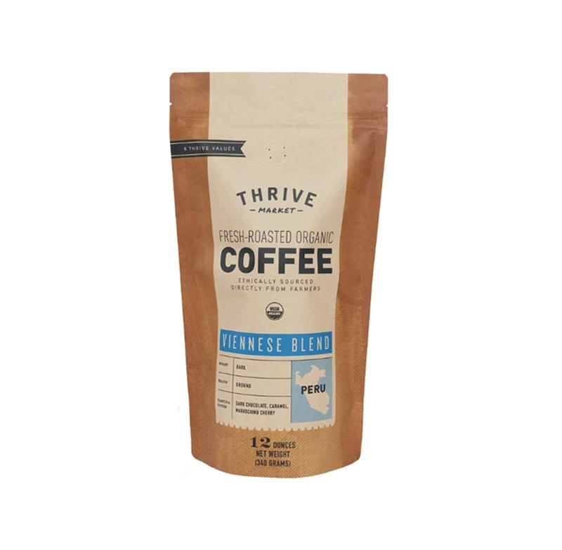 high quality factory customized logo printing coffee stand up pouch bag