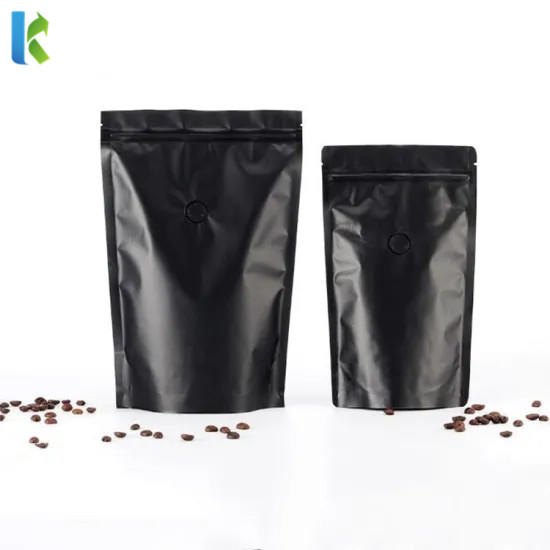 Food Grade Customized Printed Stand Up Plastic Coffee Bag with Zipper
