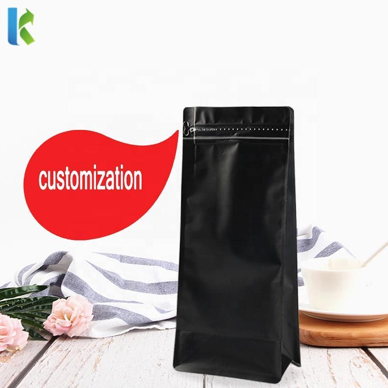 Customized Logo Printed Aluminum Flat Plastic Coffee Bag with Valve