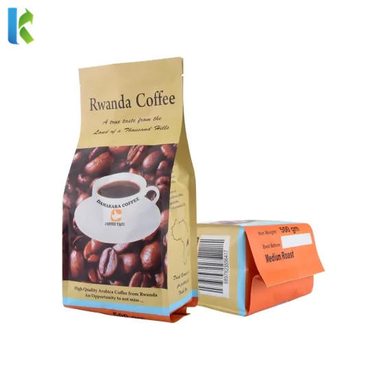 Food Grade High Quality Safety Custom Printing Flat Bottom Coffee Bag
