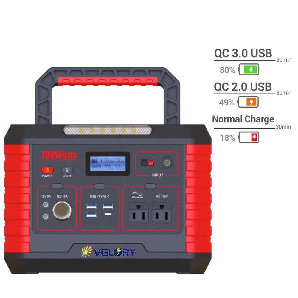 Ports Portbale Newly Design 300w 500w Portable Plug Universal Usa 220v 110v 100v Ac Output Indoor Outdoor Ups