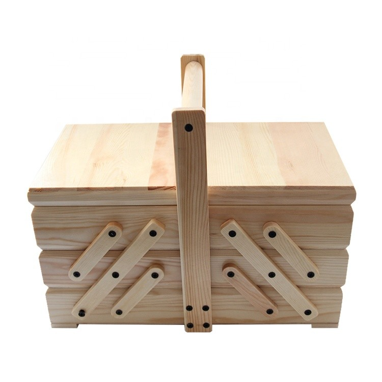Factory price wholesale wood sewing box wooden sophisticated storage box