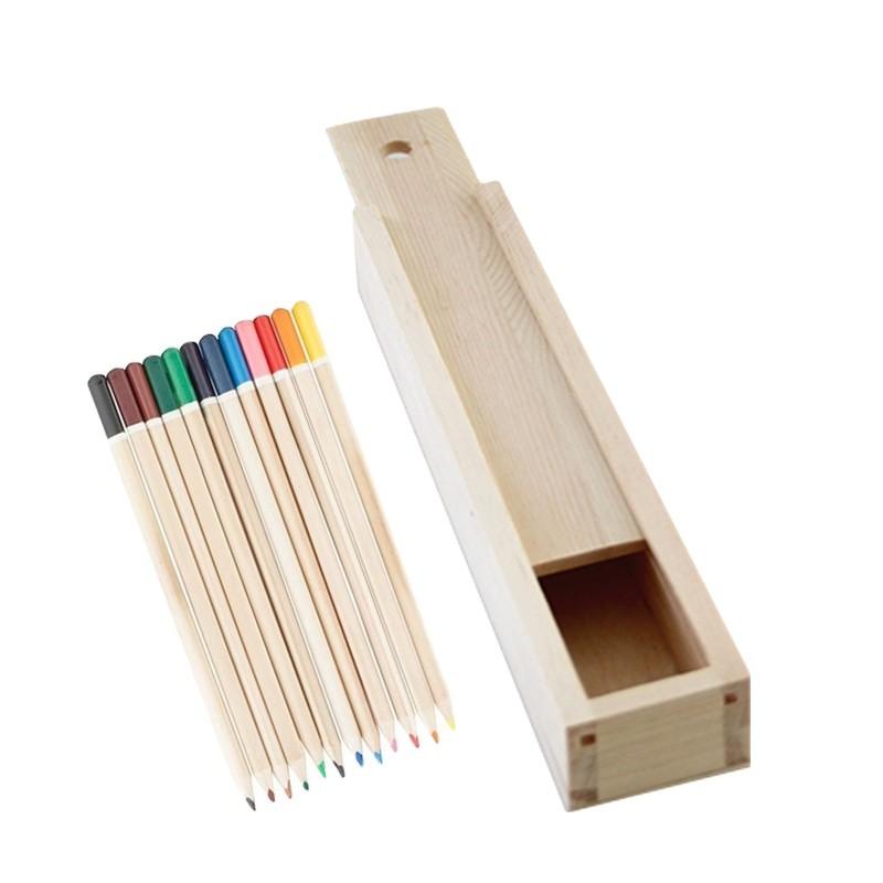 Custom cheap sliding lid pen wooden box