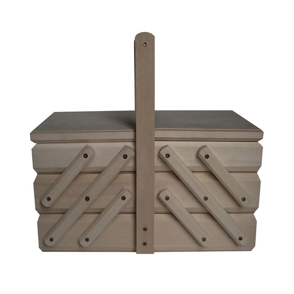 Hot sale custom sewing kit set wooden sewing box