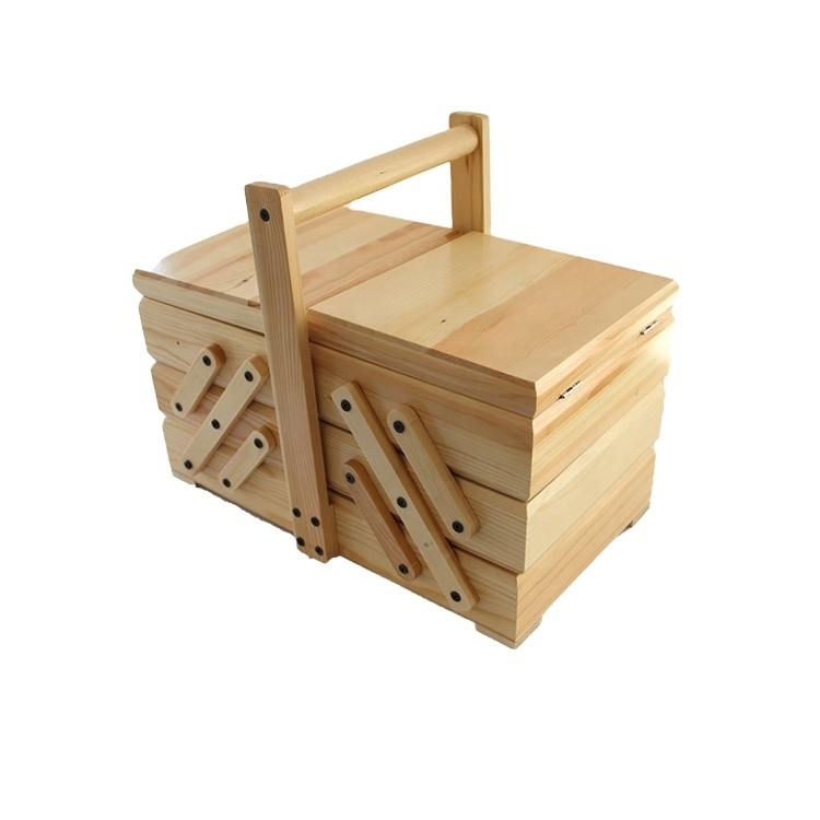 Hot sale wooden sewing box with custom design