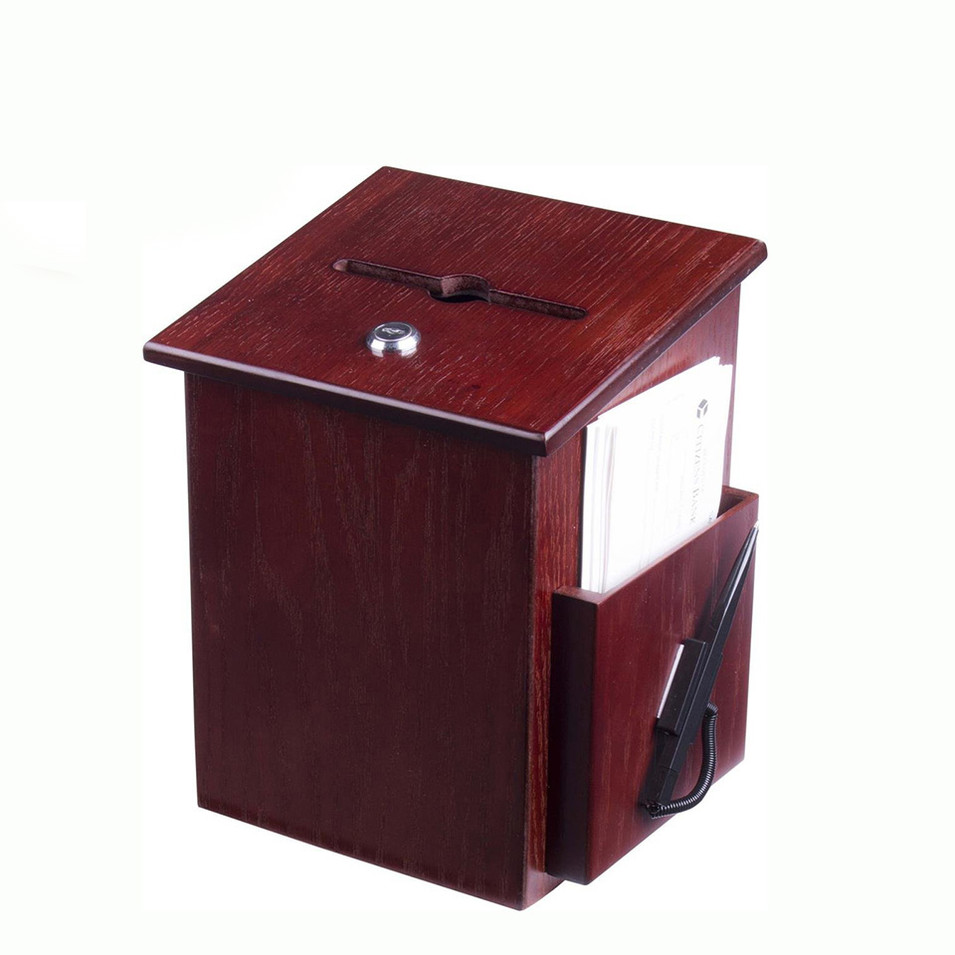 Multi-function creative simple useful stylebamboo wood suggestion letter box