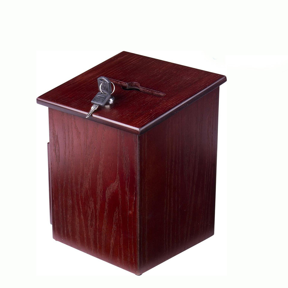 Hot sale Custom design wooden suggestion box