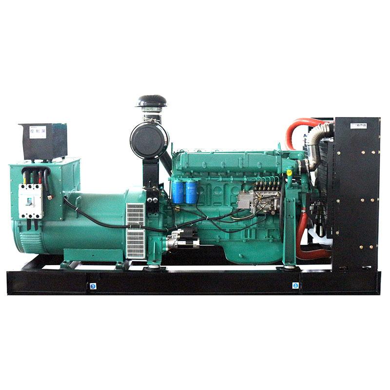 24v Electric Start Water Cooling Open Frame 200g/kw.h Power Diesel Generator