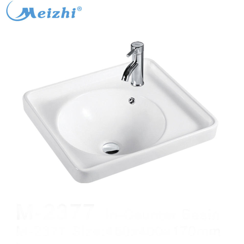 Ceramic small square kitchen corner sink modern lavabo sinks