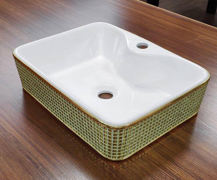 Luxury wash hand basin pattern ceramic color laundry sink