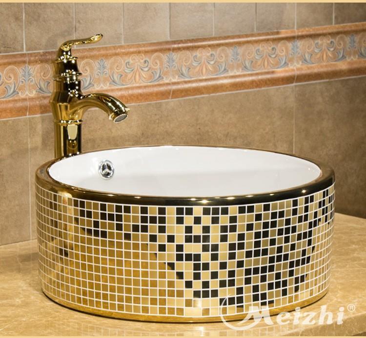New Italian design sticker gold color wash hand basin