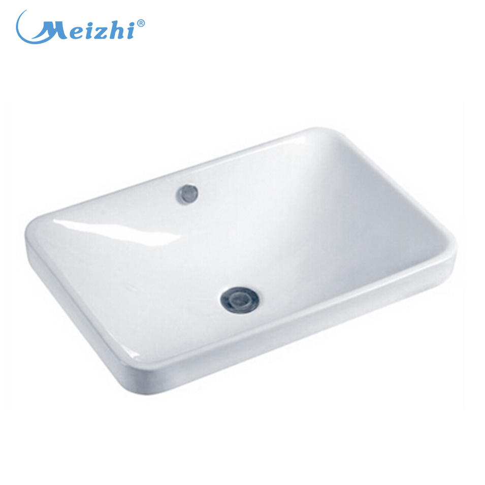 Bathroom counter ceramic laundry sink