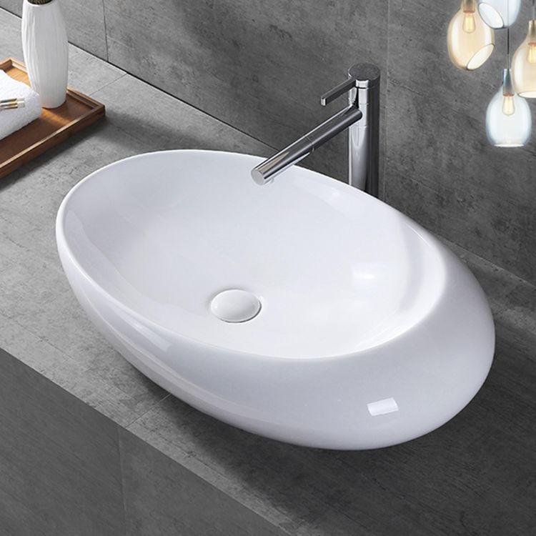 Novelty elegant bathroom egg shape basin bathroom countertop basin