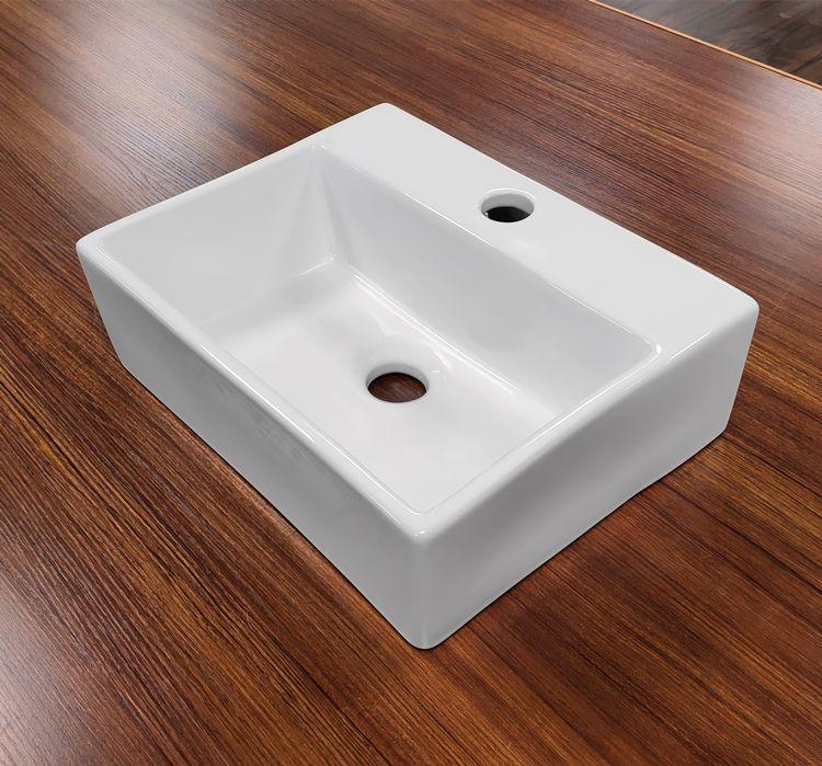 European style bathroom water sink sanitary items rectangular ceramic art basin sink