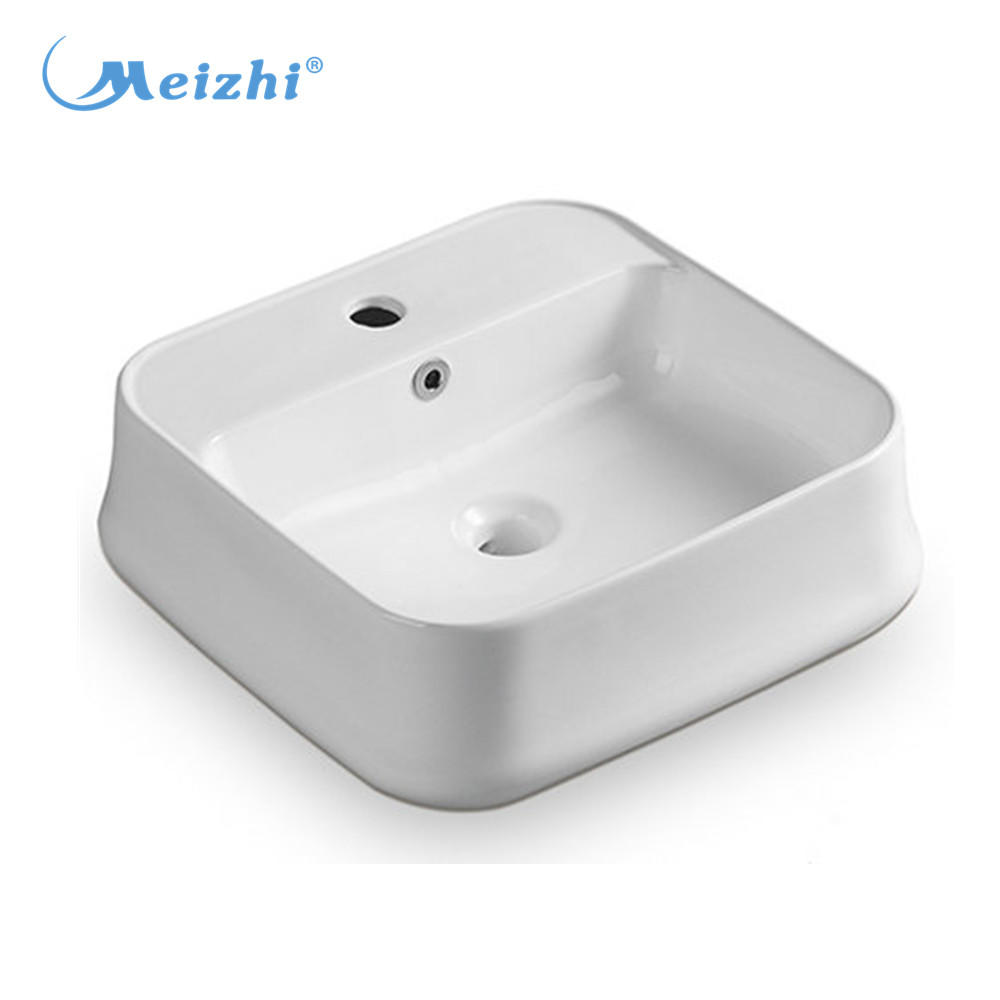 American style square countertop sinks in vitreous china material sink