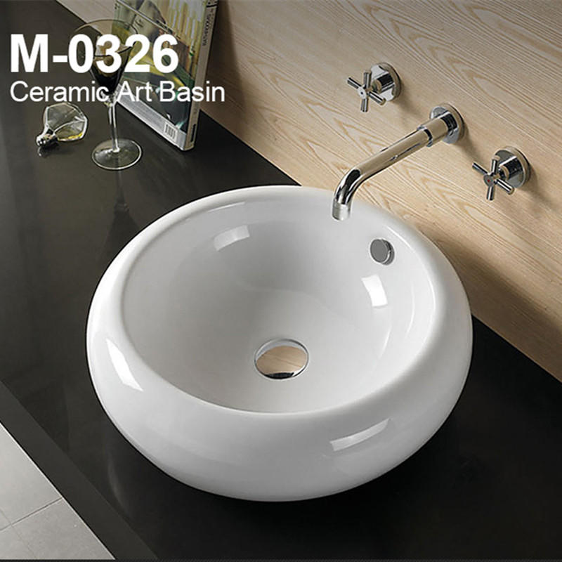 Ceramic round antique counter toilet tank wash basin