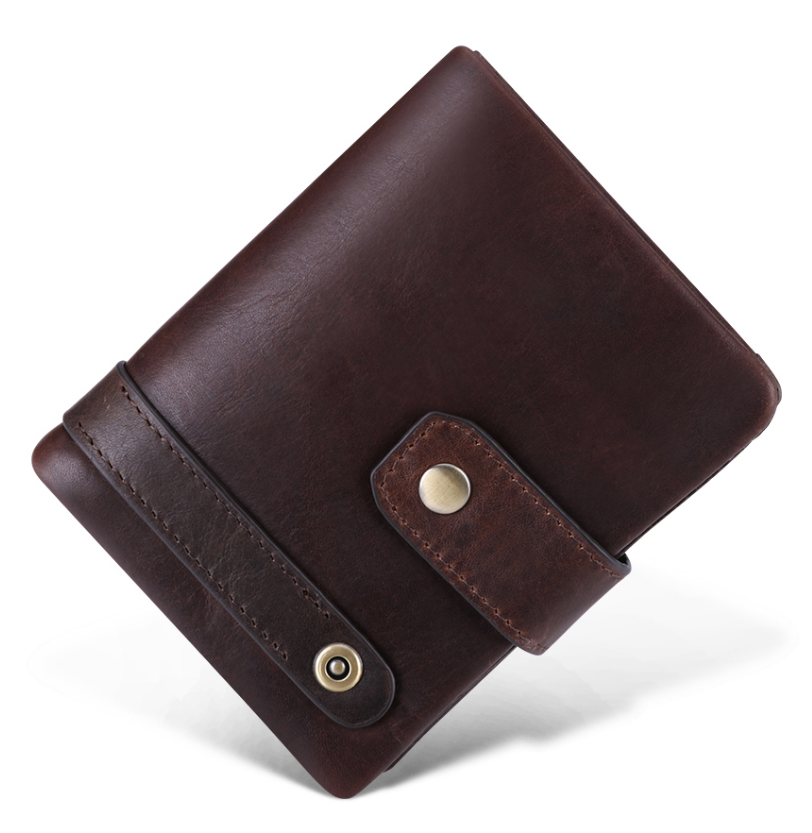 Hot Sale Genuine Leather Men Wallet RFID Vintage Wallet With Coin Pocket Short Wallets Man Purse