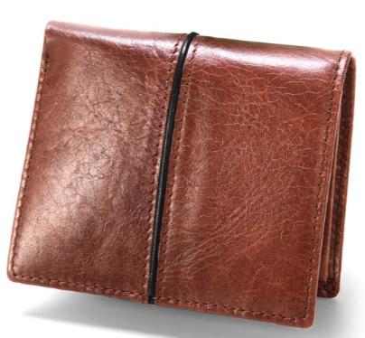 Custom Hot Sale Leather Men Money Clip Credit Card HolderPurse