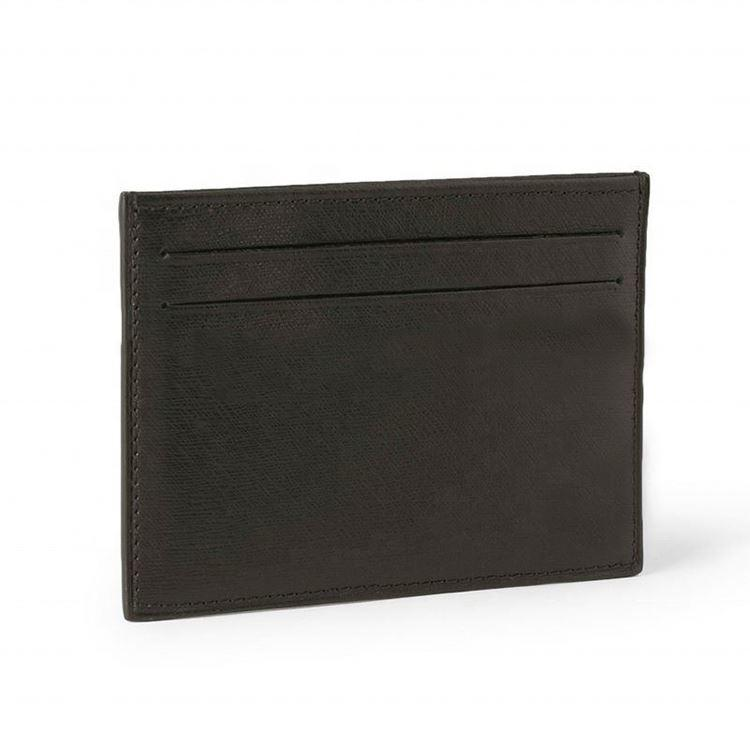 China wholesale Handmade Textured-Leather Card Wallet