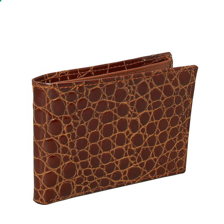 New Fashion Men's Leather Crocodile slim Wallet wholesale