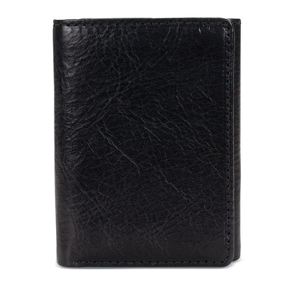 Hot Selling Fashion Men's Short Money Card Holder Business Leather Wallet